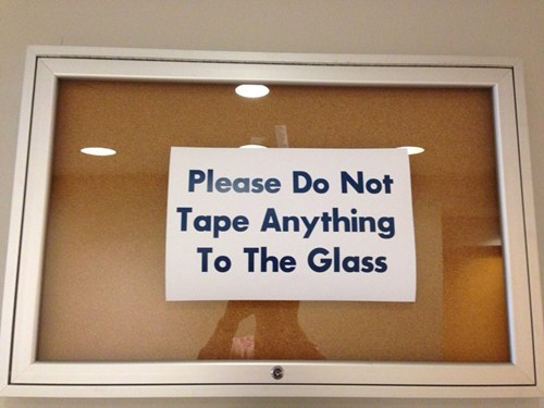 Also, Do Not Feed the Glass