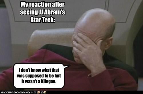 klingons,picard facepalm,Star Trek