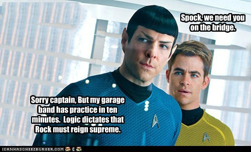 Spock, we need you on the bridge.