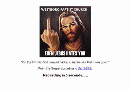 Westboro Baptist Church Creates Godhatesoklahoma.com, Hacker Hijacks Site, Seizes Domain and Puts It to Good Use