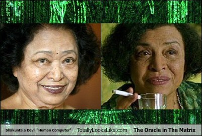 "Shakuntala Devi  ""Human Computer"" Totally Looks Like The Oracle in The Matrix"