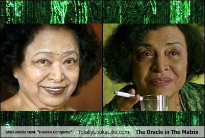 "Shakuntala Devi  ""Human Computer"" Totally Looks Like The Oracle in The Matrix"