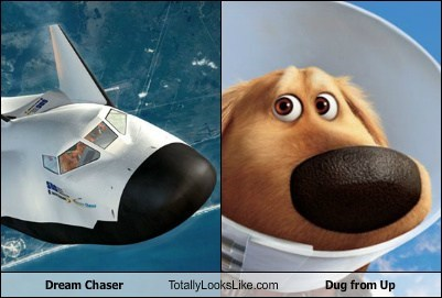 Dream Chaser Totally Looks Like Dug from Up