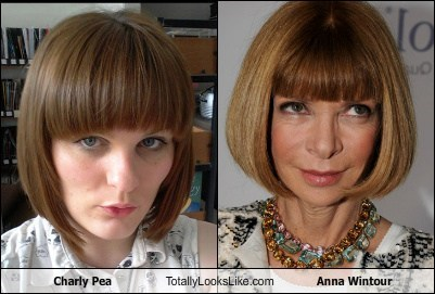 Charly Pea Totally Looks Like Anna Wintour