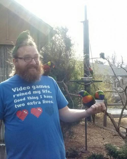 This Shirt Actually Comes with the Birds