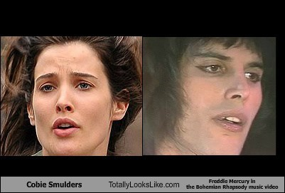 Cobie Smulders Totally Looks Like Freddie Mercury in  the Bohemian Rhapsody music video