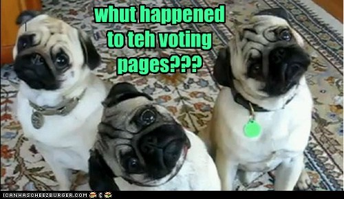 whut happened to teh voting pages???