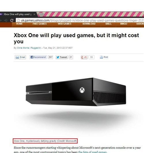 Xbox One, You Scary!