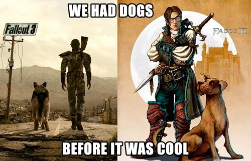 dogs,fallout 3,fable,video games,funny