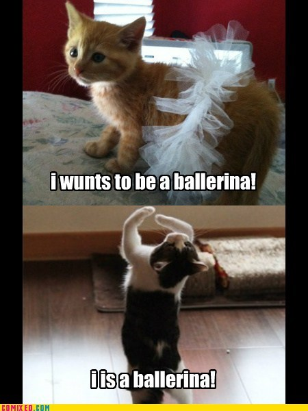 Becoming a ballerina!