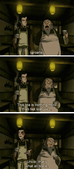 Only the Finest Leaf Juice for Iroh