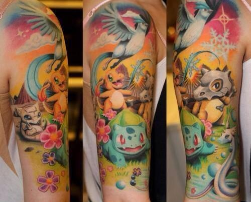 This is an Awesome Pokémon Tattoo