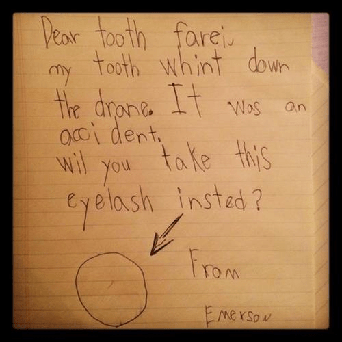 tooth fairy,kids,awesome,letter,funny