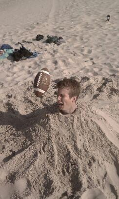 ouch,beach,football,right in the face,funny