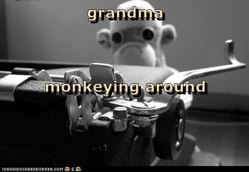 grandma monkeying around