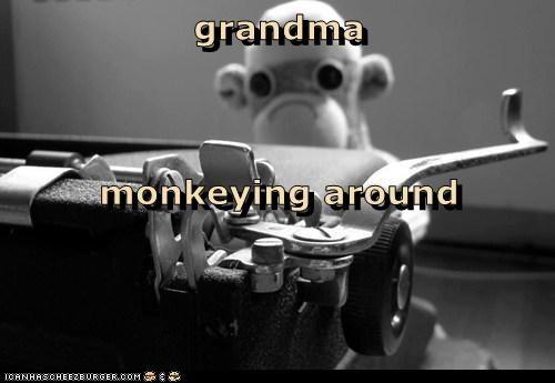 grandma monkeying around