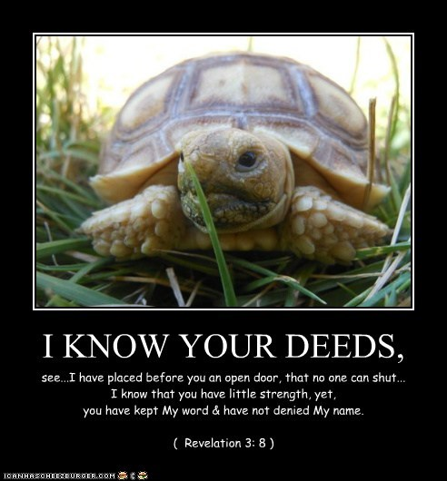 I KNOW YOUR DEEDS,