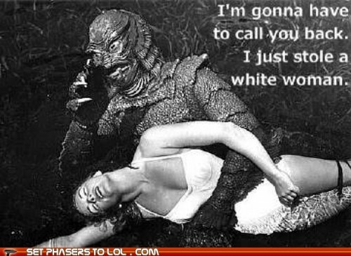 monster,creature from the black lagoon,kidnapping