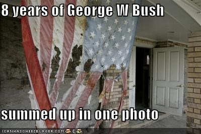 8 years of George W Bush  summed up in one photo