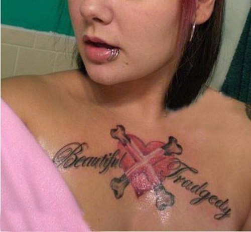 tragedy,spelling,funny,g rated,Ugliest Tattoos