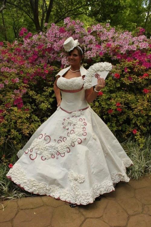 toilet paper,wedding dresses,brides,funny