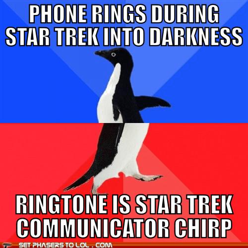 ringtones,cell phones,socially awkward awesome penguin,Star Trek