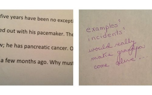 Student Writes About Dying Grandpa, Teacher Gives Him This Feedback