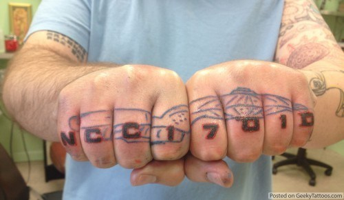 tattoo WIN,USS Enterprise,nerdgasm,Star Trek,funny,g rated,Ugliest Tattoos