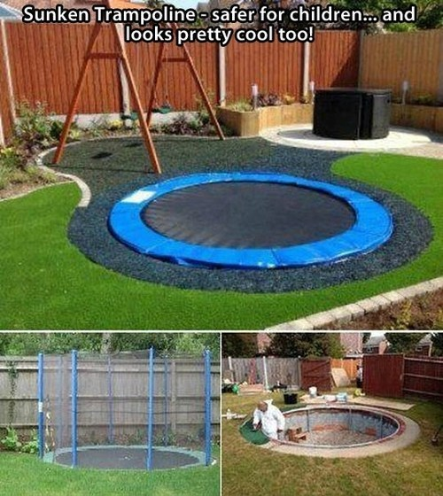 A Sunken Trampoline is Cooler Than a Sunken Pool