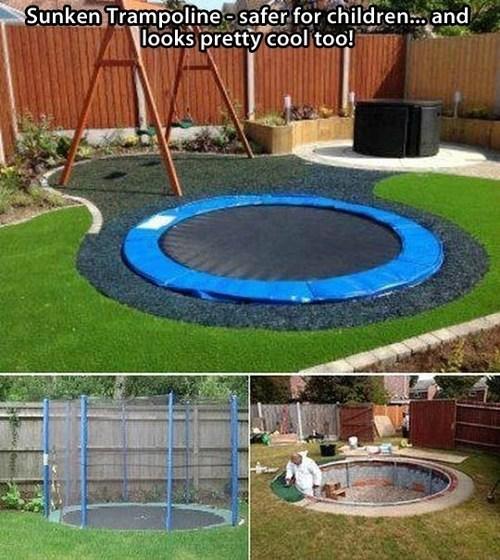 A Sunken Trampoline is Cooler Than a Sunken Pool