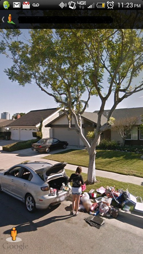 Google Streetview Catches a Breakup in Action