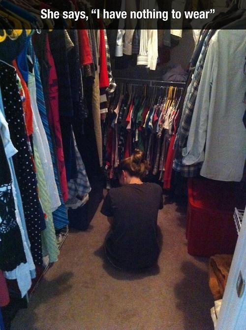 too many,clothes horse,closet,clothes,funny