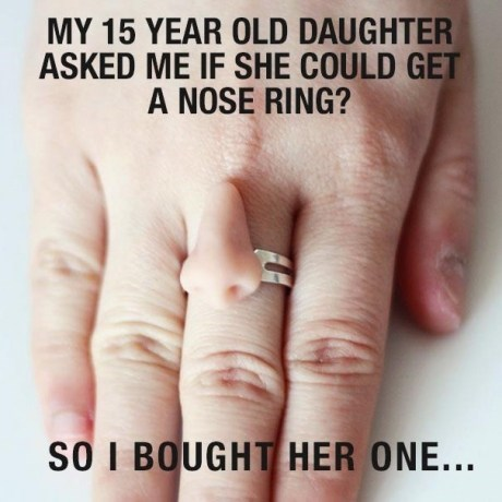 nose rings,teenagers,weird rings,funny