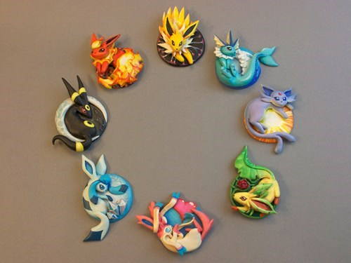 A Sculpture of Every Eeveelution