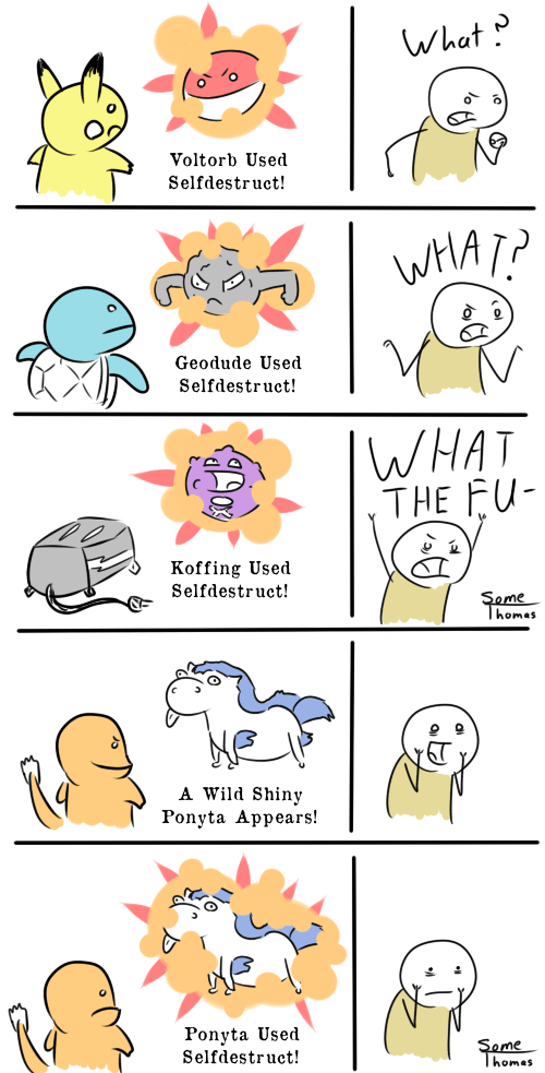 What if Every Shiny Pokemon Had Selfdestruct?