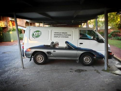 Ad,cars,paint job,funny,illusion