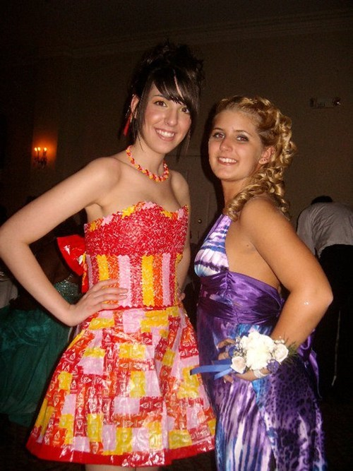 dresses,taste the rainbow,starbursts,prom,homemade,funny