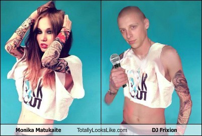 Monika Matukaite Totally Looks Like DJ Frixion