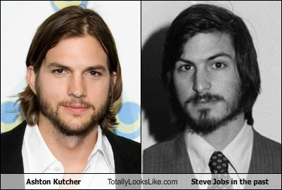 Ashton Kutcher Totally Looks Like Steve Jobs in the past