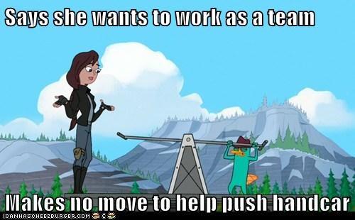 Pessimist Perry- Teamwork Stinks