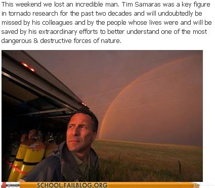 Tim Samaras (1957-2013) You Will Be Missed