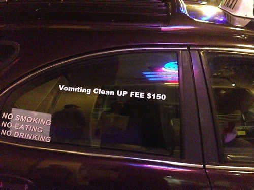 vomit,clean up,taxi,funny