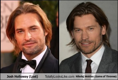 Josh Holloway (Lost) totally looks like Nikolaj Coster-Waldau (Game of Thrones)