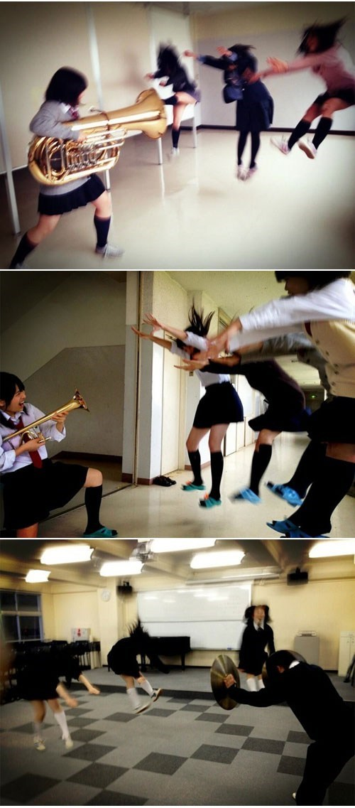 Photo Fad of the Day: Tuba Gunning is the New Hadoukening in Japan