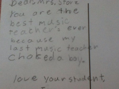students,teachers,letters from kids,funny
