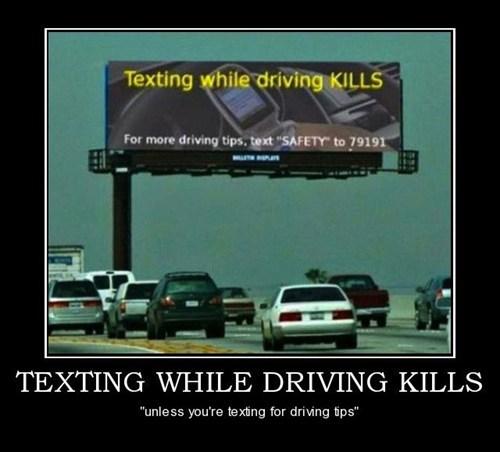 billboard,driving,texting,funny