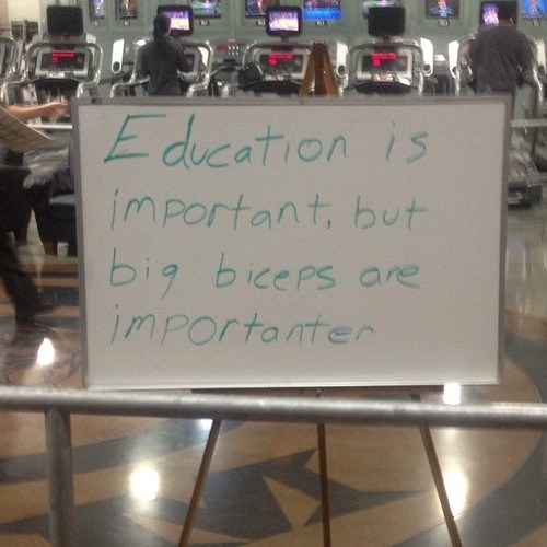 gym,biceps,education,idiots,funny,g rated,School of FAIL