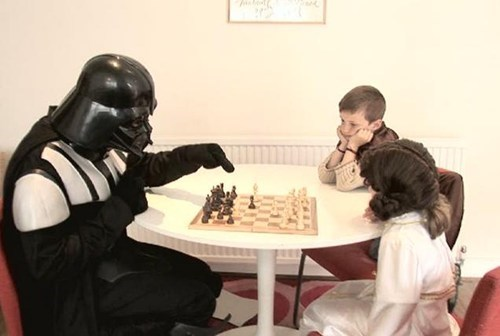 fathers day,star wars,leia,luke skywalker,chess,funny,darth vader