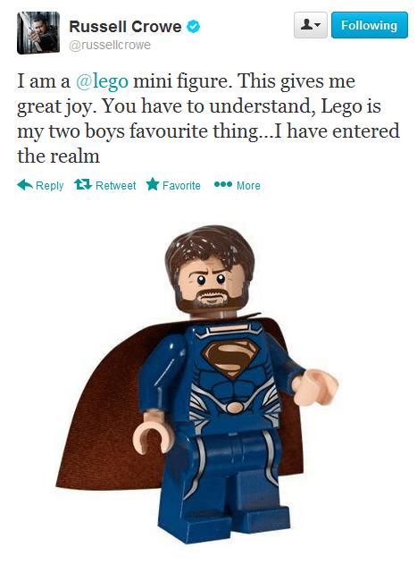 lego,Russell Crowe,superheroes,man of steel,superman