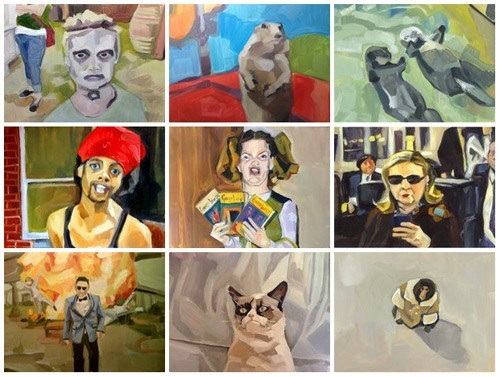 Fan Art of the Day: Lauren Kaelin's Meme Paintings